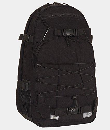 Forvert Sac à dos pour ordinateur portable en flanelle Noir Taille unique