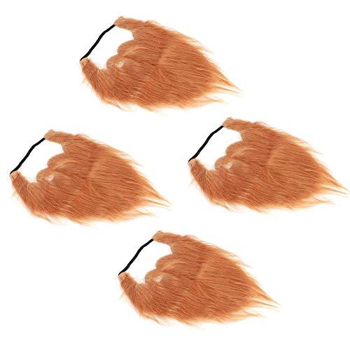 Qinlorgon 【Mother's Day】 Cloth Fabric Fake Moustache, 4pcs Soft Fake...