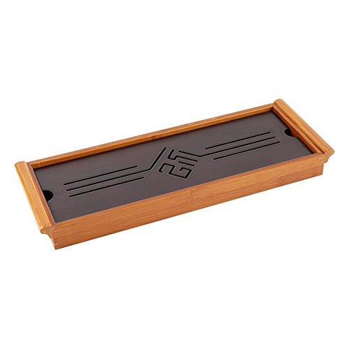 Fdit Traditioneller Knoten Muster Tee Behälter Bambus Gongfu Tabellen Umhüllung klassischer Kungfu Umhüllung Platte grüner Tee Oolong Teekanne Trivets Schalen Servierplatte