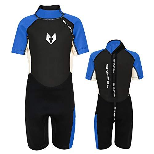 SKINFOX Scout 2-16 J. Kinder Shorty Neoprenanzug Schwimmanzug blau Farbe Blau, Groesse 8 (132_140)