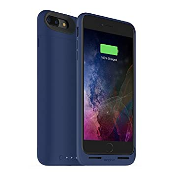 ZAGG Mophie 3788_JPA-IP7P-BLU Juice Pack Wireless - Charge Force Wireless Power - Wireless Charging Protective Battery Pack Case for Apple iPhone 8 Plus and iPhone 7 Plus - Blue