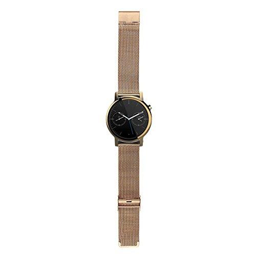 Gossip Boy Man Edelstahl Milanaise Uhrenarmband für Motorola Moto 3602nd 42mm Gold gold