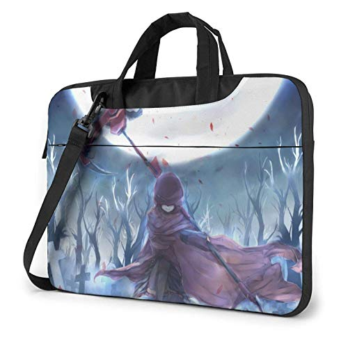 IUBBKI Anime RW-by Laptop Bag Waterproof Shockproof Double Zipper Protective Case One Shoulder Messenger Laptop Bags with Handle for Women and Men Satchel Tablet Carrying Sleeve