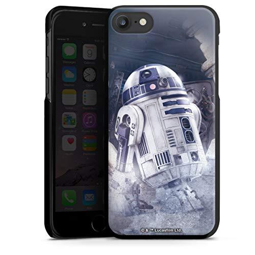 DeinDesign Hard Case kompatibel mit Apple iPhone 7 Schutzhülle schwarz Smartphone Backcover Star Wars Roboter Fanartikel