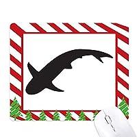 ブルーオーシャンシャーク獰猛な動物 ゴムクリスマスキャンディマウスパッド