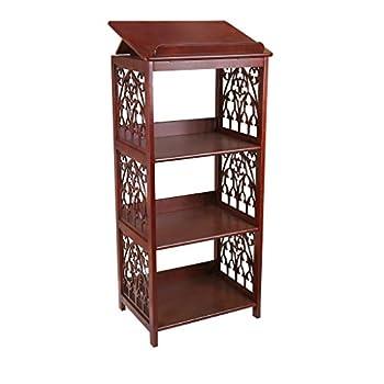 Design Toscano St Thomas Aquinas Gothic Decor Wooden Bookstand Library Display Stand 43 Inch Hardwood Walnut Finish