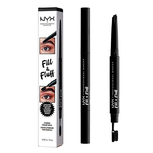 NYX PROFESSIONAL MAKEUP Fill & Fluff Eyebrow Pomade Pencil, Black