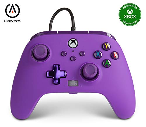 PowerA Enhanced Wired Controller for Xbox Series X|S – Royal Purple, gamepad, wired video game controller, gaming controller, Xbox Series X|S