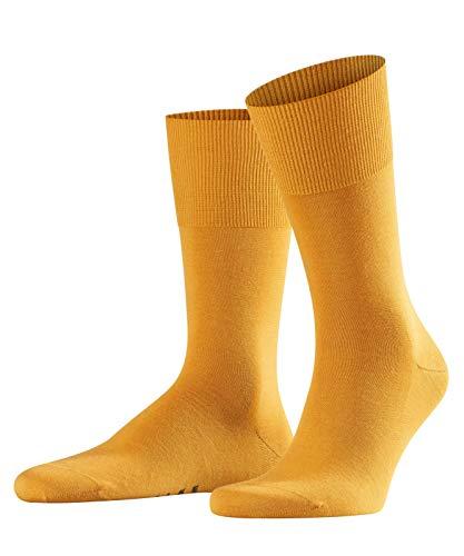 Calcetines amarillo mostaza para hombre