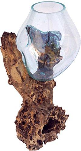 Guru-Shop Burl Houten Vaas - XXL M2, Bruin, 90x50x40 cm, Vazen Bloempotten