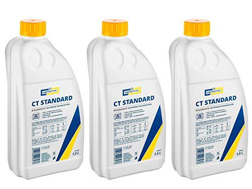 3x Cartechnic 1,5 Liter Kühlerfrostschutz Anti-Freeze Gelb Yellow CT Standard Kühlflüssigkeit Frostschutz