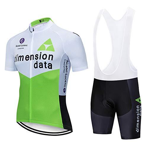 UIMED Ropa de ciclismo para hombre maillot de manga corta + pantalón corto con almohadilla de gel 3D un conjunto completo de bicicletas elegantes
