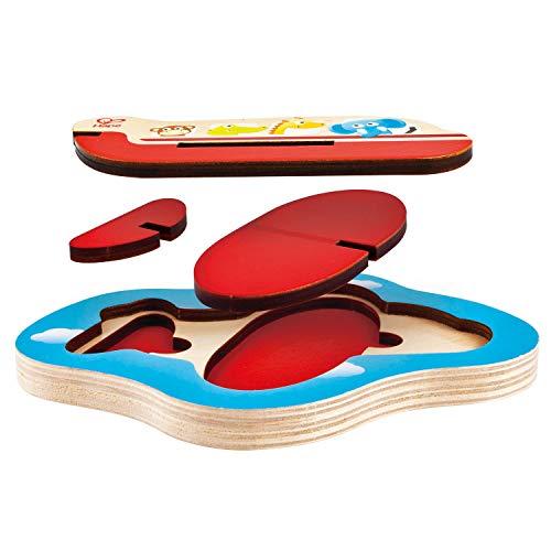 Whybee HAPE E1611 3D-Flugzeug-Puzzle, Holz, für Kleinkinder, Kinder ab 24 Monaten