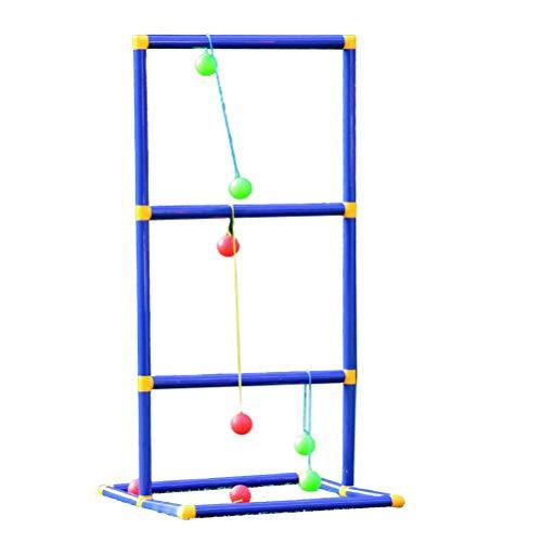 Amiispe Wurfspiel Leitergolf Spiel Leiterspiel Wurfspiel Outdoor Golf Wurfball Leiter Ballspiel Outdoor Eltern-Kind-Spiel Spielzeug