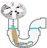 10 PCS Kitchen Sink Cleaner catena Catene parrucca Cleaners spina di rimozione dei capelli Vasca Clog Cisterna filtro di depurazione Bagno Doccia fognatura gancio Sweep Catcher Canale Clean up
