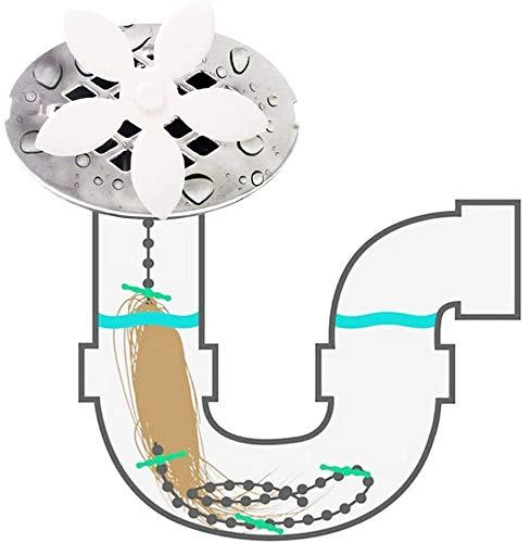 fibound Haarfänger für Abfluss, Badewannen Abfluss Kette [10er Pack] Haar Blocker, Dusche Badzimmer Abflusssieb Haarsieb Spüle Abflussschützer Ablaufsieb