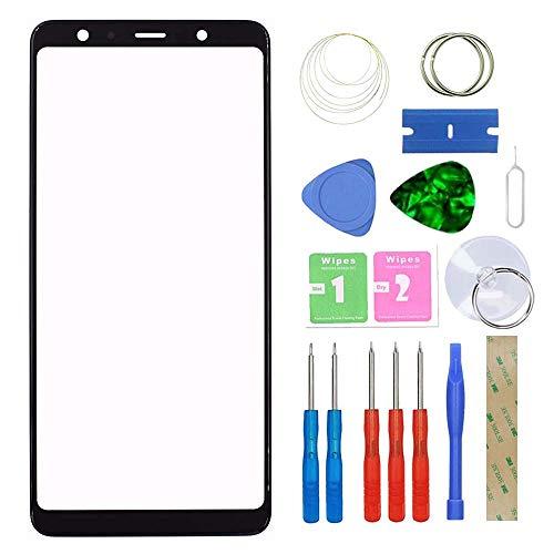 MovTEK Pantalla Repuesto Cristal Tactil Frontal Original para Samsung Galaxy A7 A750F 2018 con Kit de Herramientas y Adhesivo 3M Negro