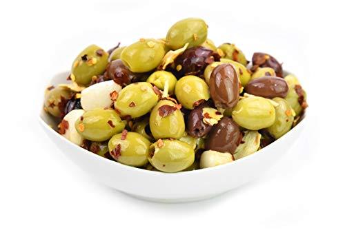 Olive miste marinate in olio - peperoncino e aglio - 2,9 Kg