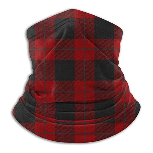 NA Neck Black Red Tartans Plaids Ski Neck Cover Warmer
