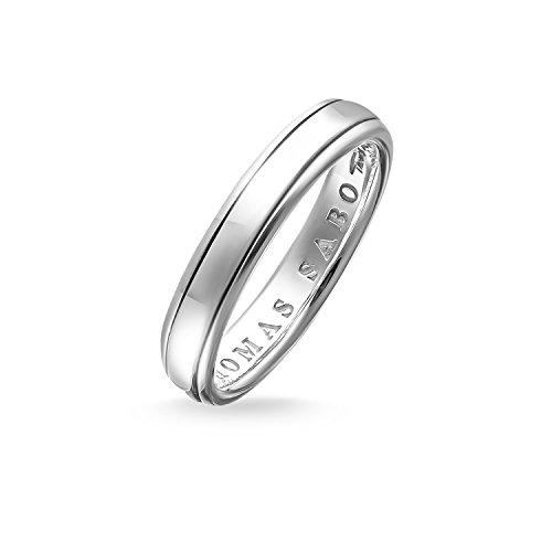 Thomas Sabo Unisex banda anillo–Anillo de plata de ley 925, ennegrecido tr1998–001–12, Plata-esterlina, plata, 52