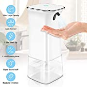IVSO Automatic Alcohol Dispenser Infrared Induction Non-Contact Alcohol Sprayer Bottles, 350ml Soap Dispenser, Large Capacity, Suitable for Kitchen, Toilet, Family, Hospital (White)