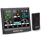 ROVLAK Estacion Meteorologica Inalambrica con Sensor Exterior Digital Termómetro...
