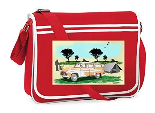 Druckerlebnis24 Schultertasche - Pkw Oldtimer Kombi Tourist - Umhängetasche, geeignet für Schule Uni Laptop Arbeit