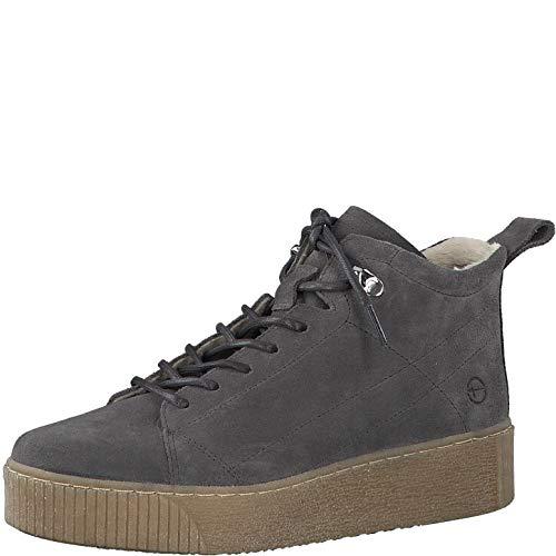 Tamaris Damen Stiefel, Frauen Schnürstiefel, Sportschuhe schnürung weiblich Ladies Women's Women Woman Freizeit leger Boots top,Grey,39 EU / 5.5 UK