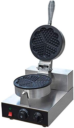 VIWIV Toastie Maker Waffle Maker Hierro en forma de corazón antiadherente Waffle Machine Control de temperatura ajustable Sandwich Tostadora Helado Maker