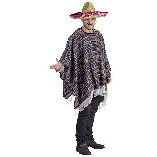 Traje Poncho Viste a la América Mexicana Adultos (un tamaño)