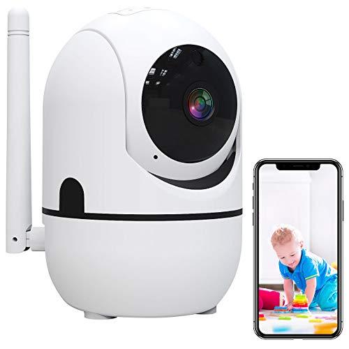 7links Innenkamera: WLAN-IP-Überwachungskamera mit Objekt-Tracking und App, Full HD, 360° (WLAN Überwachungskamera innen)