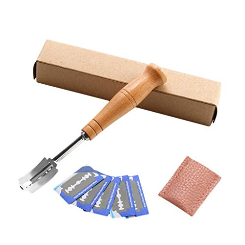 DEtrade Bread Bakers Blade Slashing Tool Teig Cutter Dough Making Cutter Accessor (A)