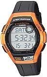 Casio Men's Step Tracker Stainless Steel Quartz Sport Watch with Resin Strap, Black, 22 (Model: WS-2000H-4AVCF)