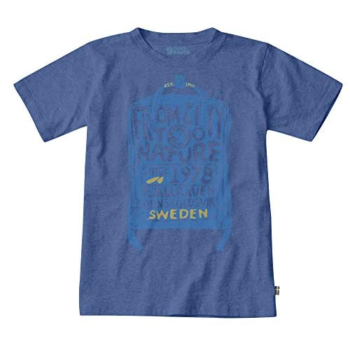 Fjällräven Kånken Kids T-Shirt Maglietta, Blu (Deep Blue), 6/7 Años Unisex Bambini
