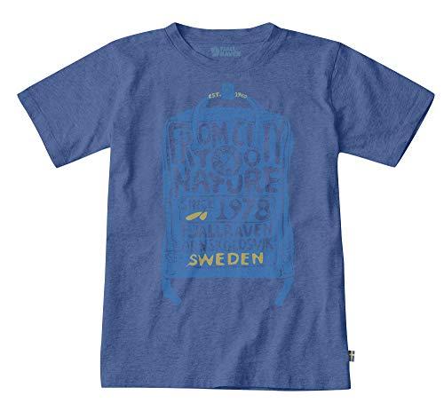FJALLRAVEN Unisex-Kinder Kånken Kids T-Shirt Hemd, Dunkelblau, 4/5 años