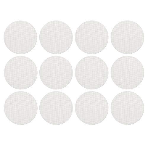 ECENCE Antirutsch-Pads Dusche & Badewanne 12er Set Duscheinlage Badewanneneinlage transparent selbstklebend Badewannenmatte rutschfest leicht ablösbar Treppenfolie Rutschschutz rund