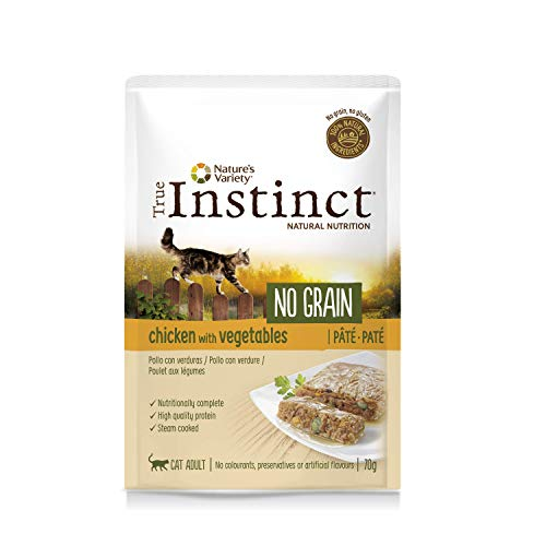 True Instinct No Grain - Nature's Variety - Paté de Pollo con Verduras para Gatos 70 gr - Pack de 8 ✅
