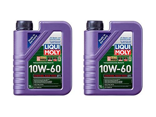 ILODA 2X Original Liqui Moly 1L Synthoil Race Tech GT1 10W-60 Motoröl Motorenöl Oil Öl 1390