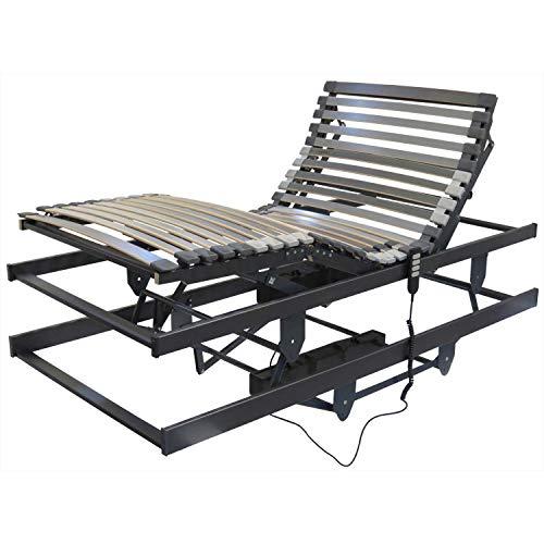 Betten-ABC Lattenrost für Pflegebetten, mit motorischer Kopf- Fußteil und Höhenverstellung Größe 90x200