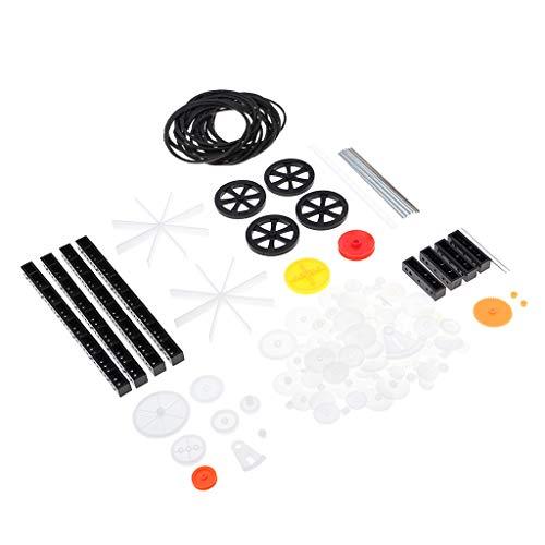Fenteer Zahnrad Zahnräder Antrieb Zahnriemen Set für RC Roboter Modellbau - 92pcs/Set
