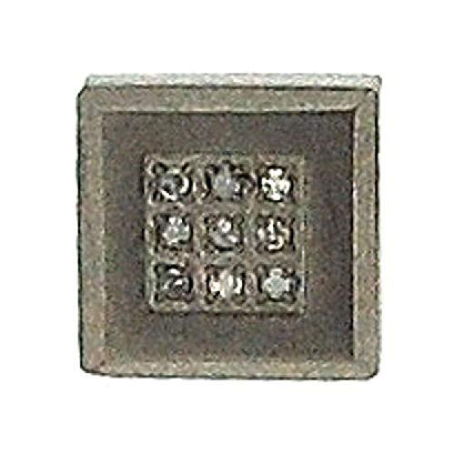 Boucle d?Oreilles Hommes Cloutées Diamant Carré Simple Titane par La Collection Olivia - CL4027