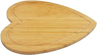 BESTONZON Heart-Shaped Bamboo Cutting Board - Cheese Board Salad Plate Dinner Plate Cake Plate - Miniature Cutting Board - Brown