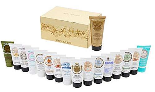 Perlier 17-pc Hand Cream Set with 16 Minis & 3.3oz Anti-Aging Cream