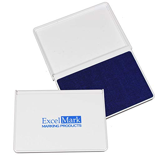 ExcelMark Ink Pad for Rubber Stamps 2-1/8' by 3-1/4' - Blue