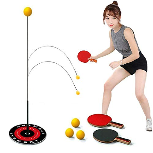 Best Buy! AILSAYA Single Ping Pong Trainer, Elastic Automatic Rebound Table Tennis Trainer Self-Trai...