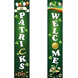 Cartel irlandés para cortina de puerta, letrero para porche de vacaciones del día de San Patricio, decoración del hogar, colgado en techos, ventanas, jardines
