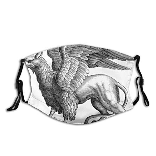 yanfind Griffin Gryphon line Art Mythological Mythical Mythology Greek Greece Fictional Legendary Animal Bird Lion Hybrid Vintage Retro Heraldry Heraldic Dust Washable Reusable