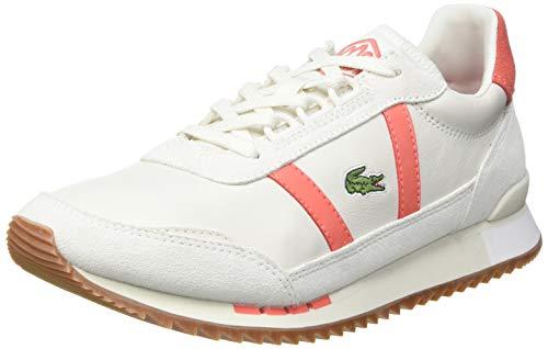 Lacoste Damen Partner Retro 0721 1 SFA Sneaker, Off Wht/Pnk, 38 EU