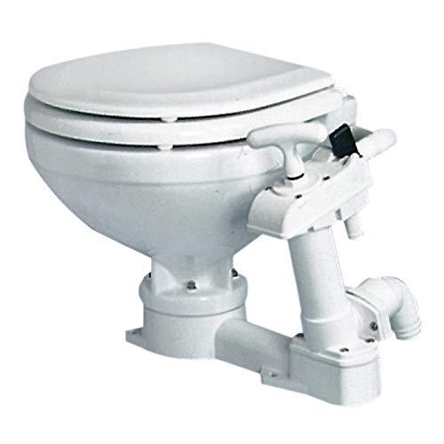 Osculati WC manuale Compact tavoletta Legno (Manual Toilet Unit Compact Wooden Board)