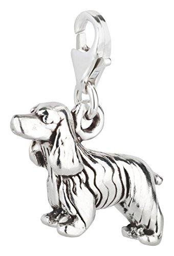 Charm Anhänger Hund Cocker Spaniel 2 aus 925 Sterling Silber